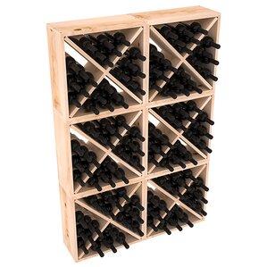 Karnes Pine Rustic Cube 144 Bottle Floor Wine Rack by Red Barrel Studio