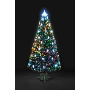 4ft artificial christmas tree with 32 led multi colored lanterns - Led Spiral Christmas Tree
