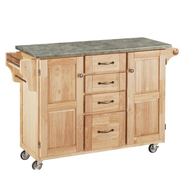 Home Styles Create-a-Cart Kitchen Island with Concrete Top ...