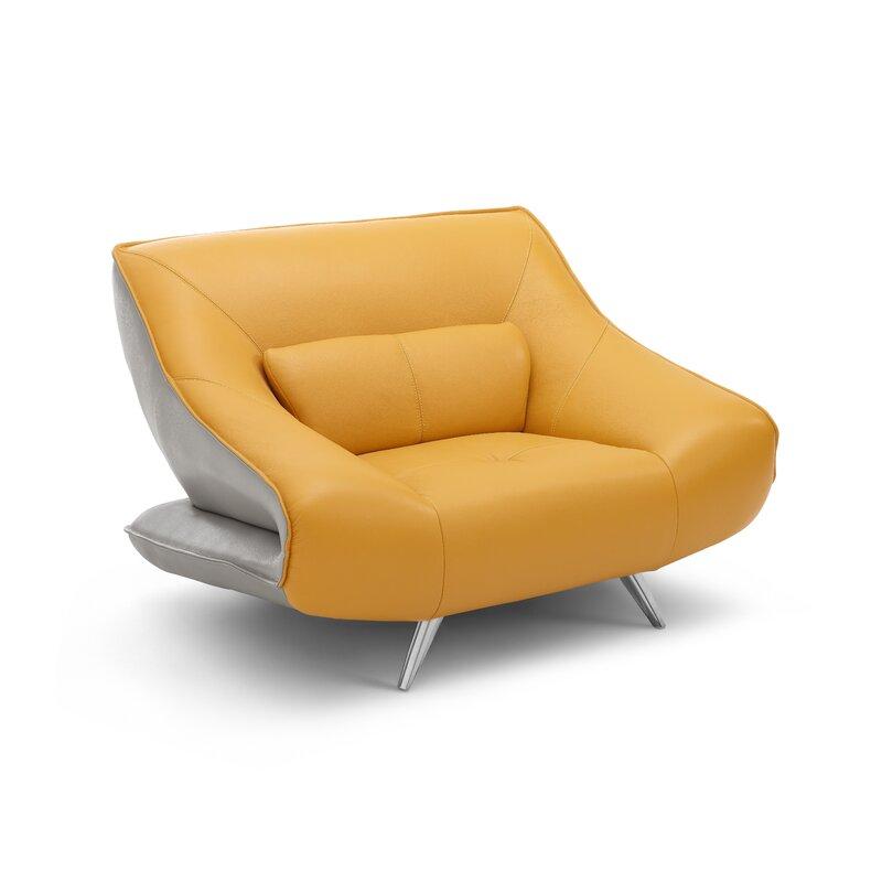 ffc6b69d2dca6 Orren Ellis Boyertown Leather Armchair | Wayfair