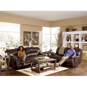 Tankersley Leather Reclining Loveseat by Darby Home Co