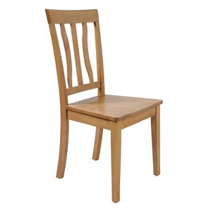 Gold Solid Wood Dining Chair by August Grove
