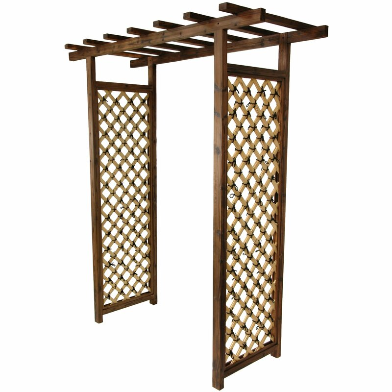 Oriental Furniture Japanese Bamboo Garden Gate Trellis Wood Arbor