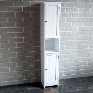 vida priano 32 x 170cm free standing tall bathroom cabinet