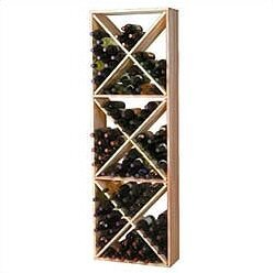 Premium Redwood 132 Bottle Floor Wine Rack