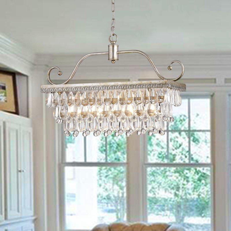 Gerhart 4 Light Crystal Chandelier House of Hampton