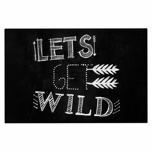 Chelsea Victoria Let's Get Wild Illustration Typography Doormat