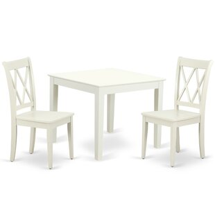 Laleia 3 Piece Solid Wood Dining Set