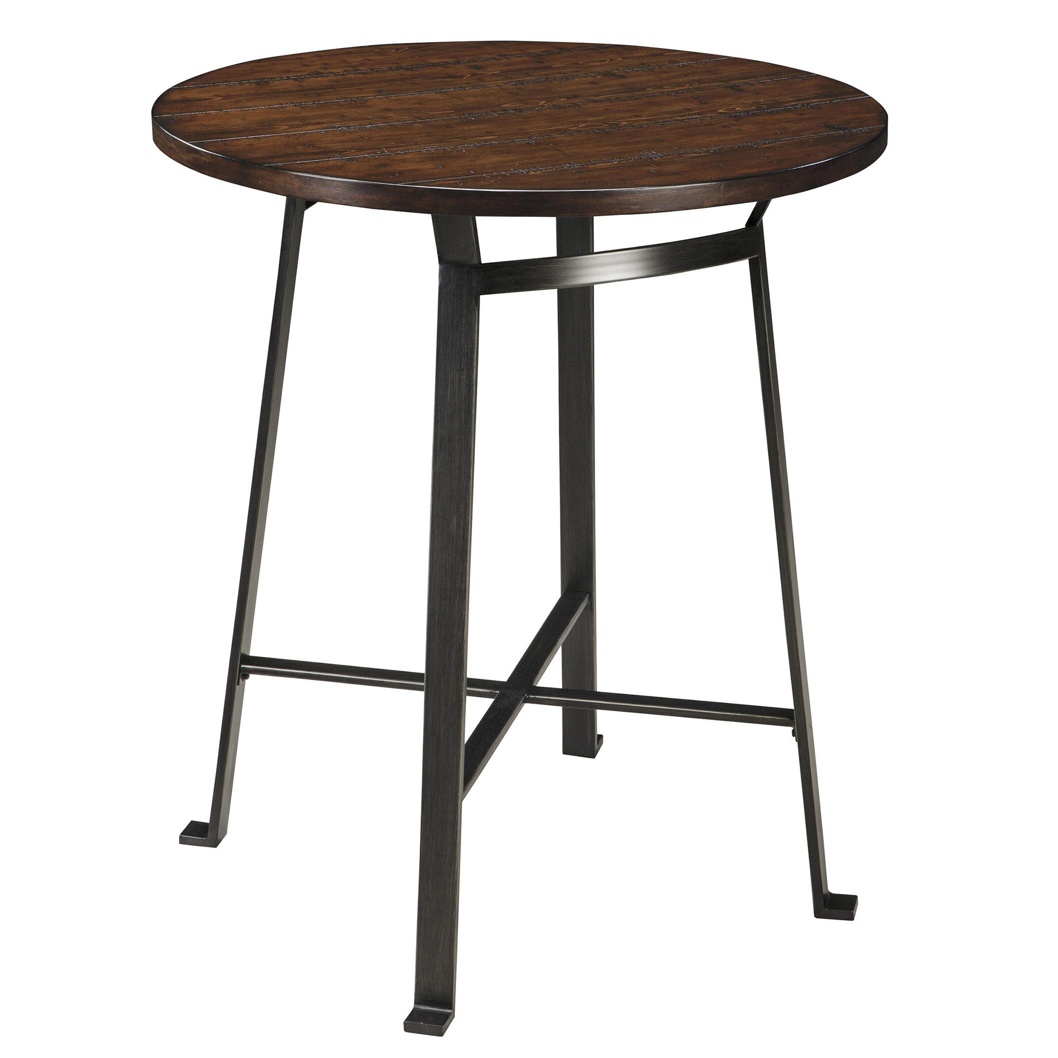 Brayden studio dube round drm pub table reviews wayfair for Cie publication 85 table 2