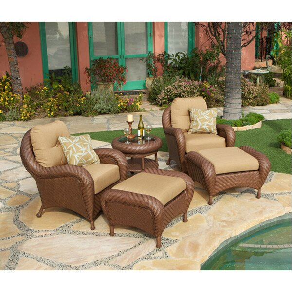 Art Frame Direct Soria 5 Piece Deep Sunbrella Seating Group with Cushions