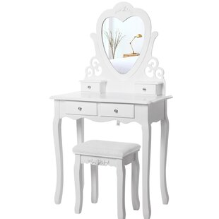 Dressing Table Set With Mirror
