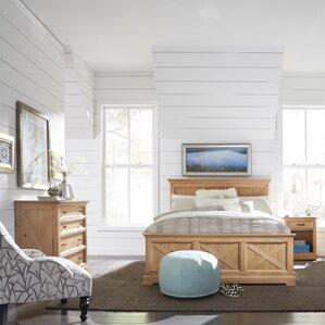 gray wood bedroom furniture. Burbury Country Lodge Wood Panel 3 Piece Bedroom Set Sets  Birch Lane