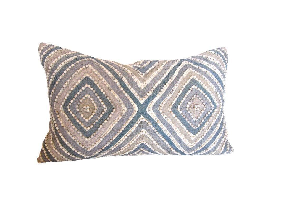 Sea Side Geometric Bead Throw Pillow