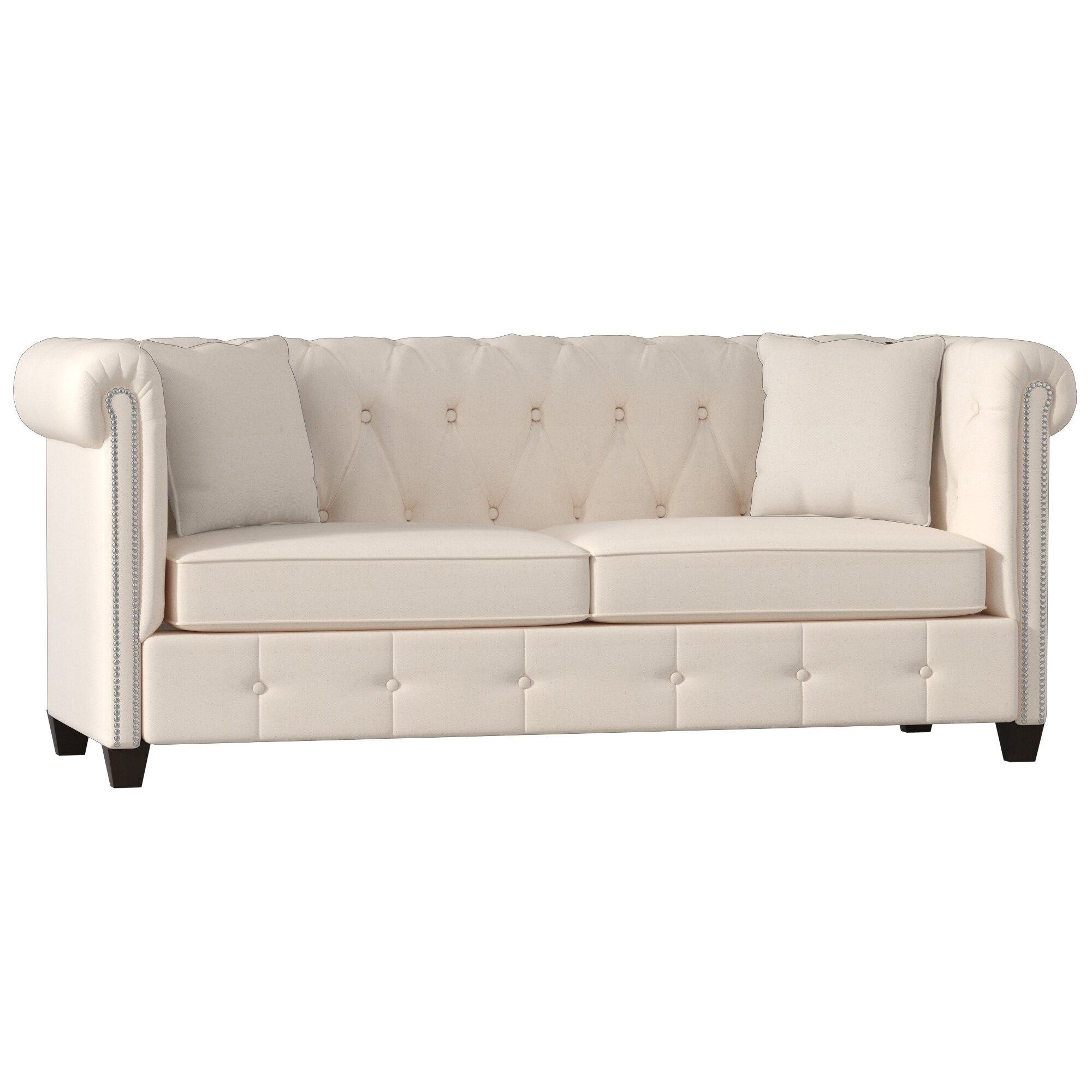 Wayfair Custom Upholstery Josephine Tufted Chesterfield Sofa & Reviews -