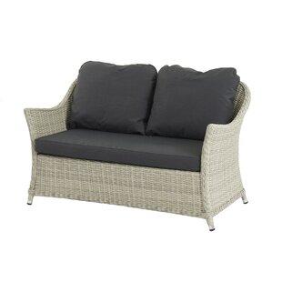 Ridgewood 2 Seater Garden Loveseat with Cushion by Lynton Garden