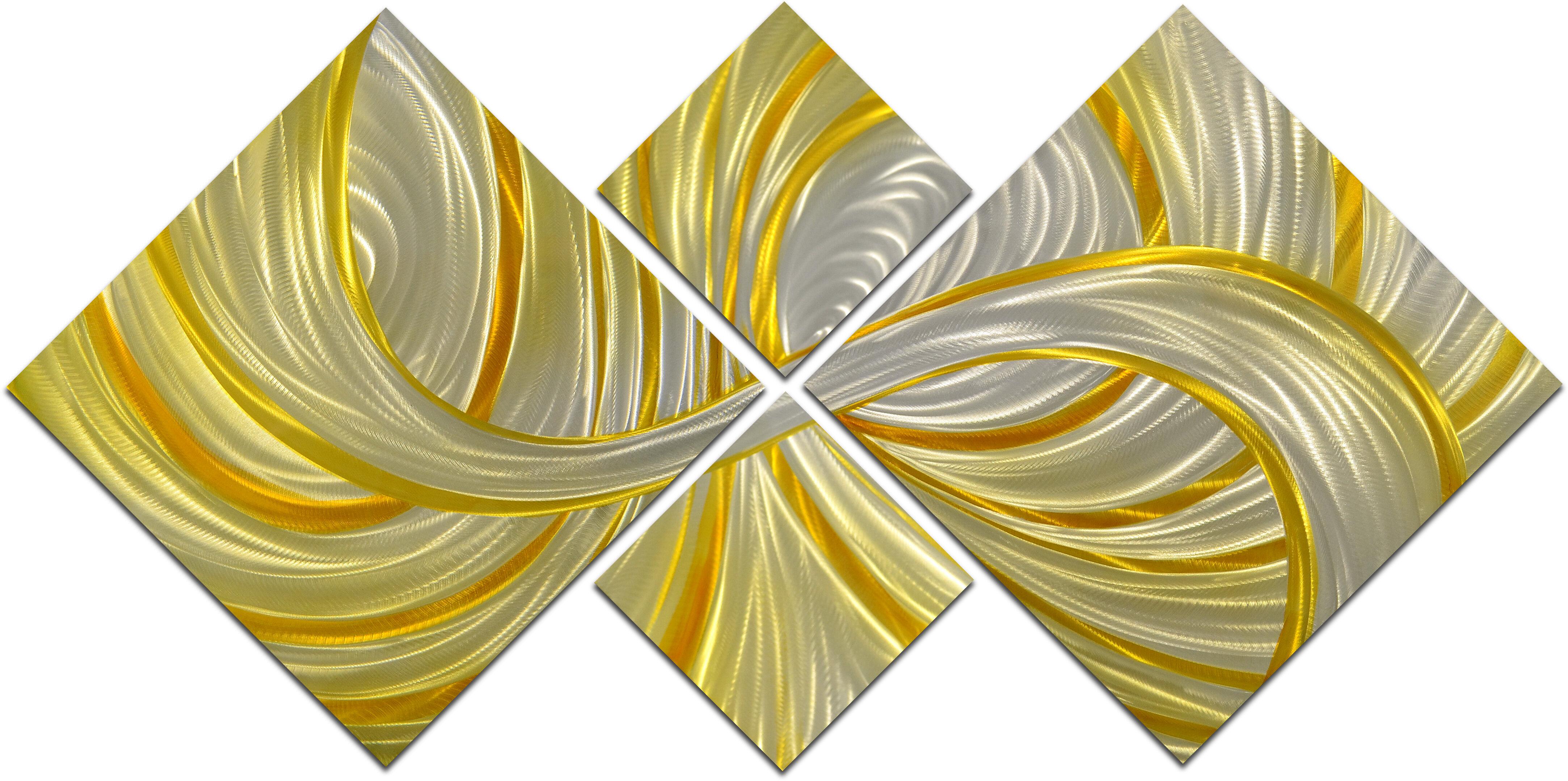 Omax Decor Deceptive Golden Curls Wall Décor Set   Wayfair