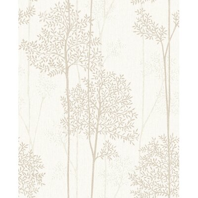 Gracie Oaks Darcella 33' x 20 Floral and Botanical Wallpaper Roll Color: Cream/Gold