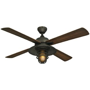 Farmhouse rustic ceiling fans birch lane 52 roselle one light 4 blade ceiling fan aloadofball Gallery