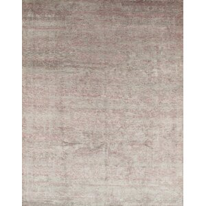 Hand-Knotted Raspberry Area Rug