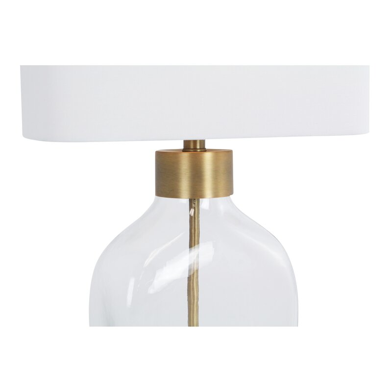 Yale glass 25 table lamp
