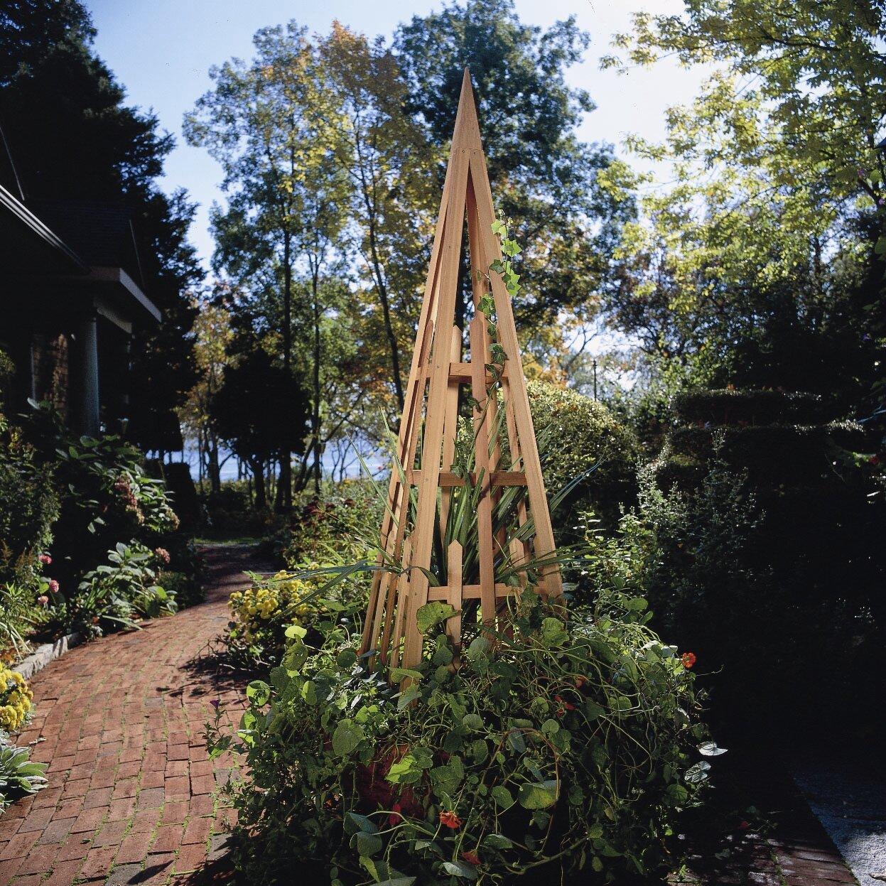 Beau Rustic Cedar Pyramid Wood Obelisk Trellis U0026 Reviews | Wayfair