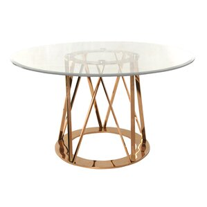 Mayall Round Metal Dining Table by Orren ..