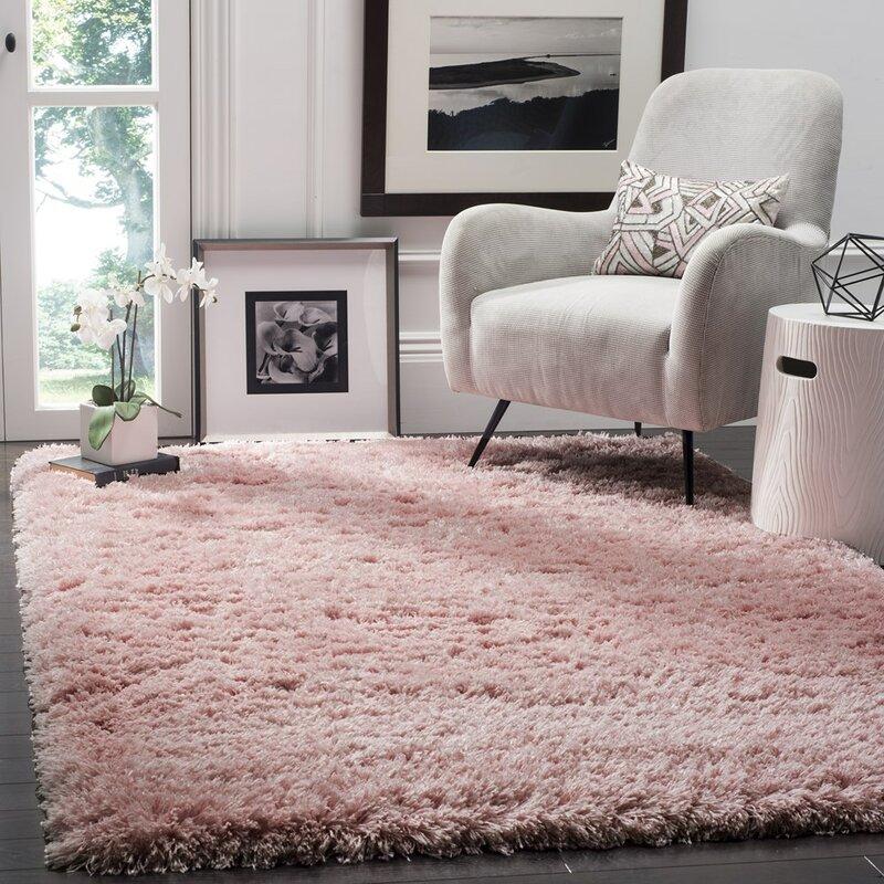 Willa Arlo Interiors Hermina Light Pink Area Rug & Reviews | Wayfair