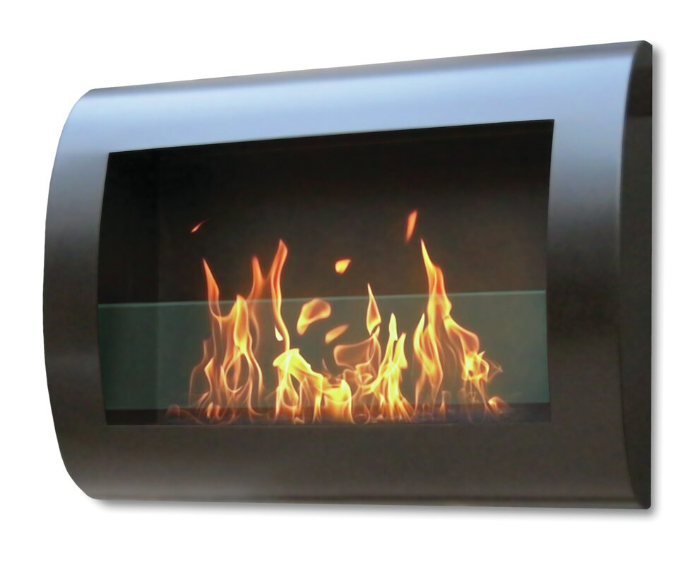 wall mount ethanol fireplace chantico fire impulse wall mounted