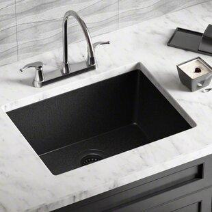 black composite kitchen sink wayfair rh wayfair com black granite kitchen sinks undermount granite composite kitchen sinks undermount