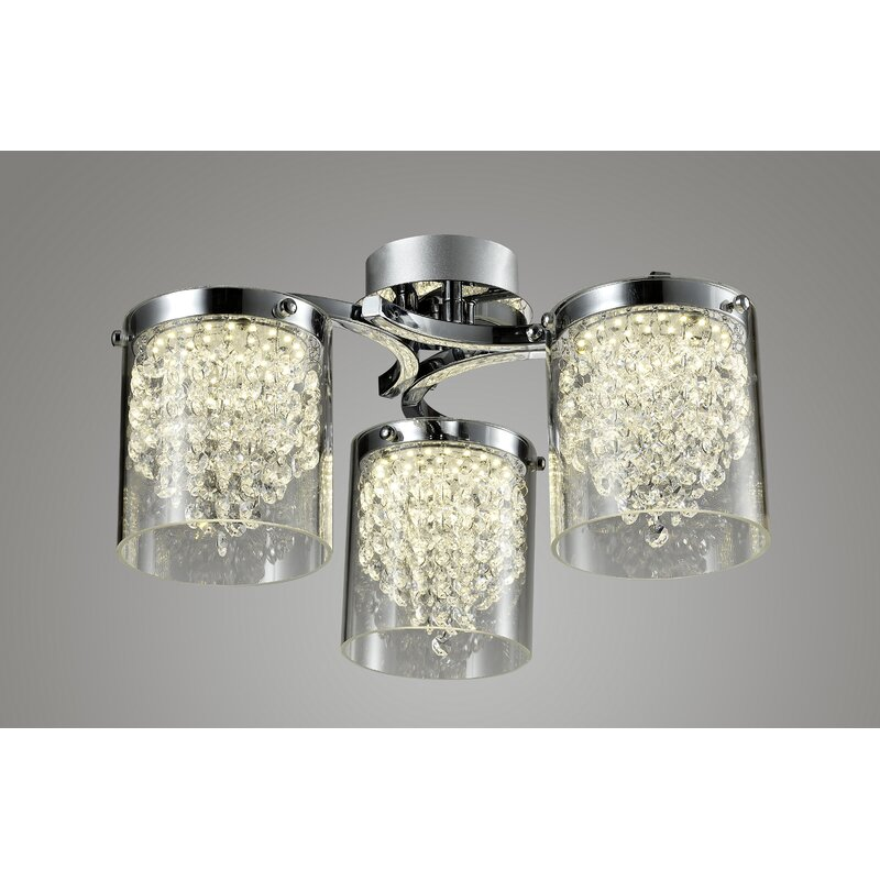 House of Hampton Percy 6-Light LED Flush Mount