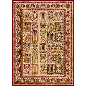 Timeless Cordelia Garden Red/Beige Area Rug
