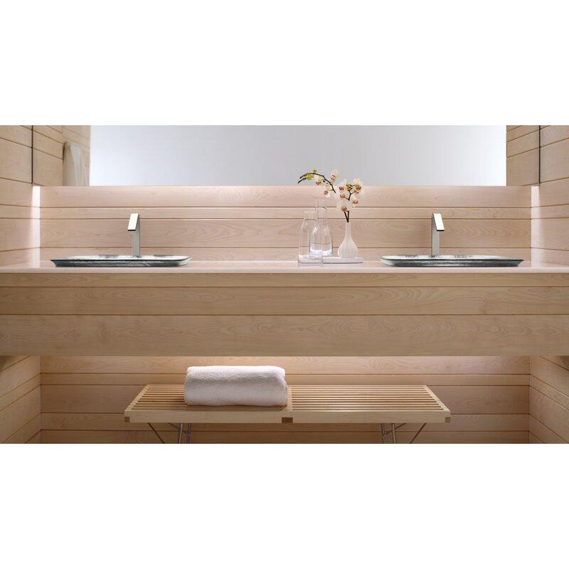 Kohler Inia Glass Rectangular Vessel Bathroom Sink