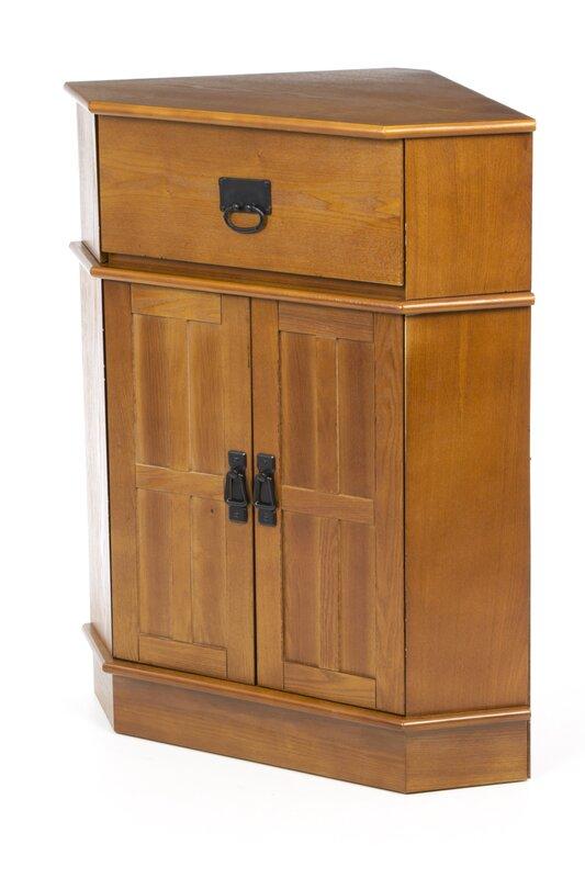 Charlton Home Whitaker 2 Door Corner Cabinet & Reviews | Wayfair