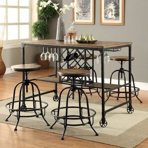 Colston 5 Piece Pub Table Set by 17 Stories