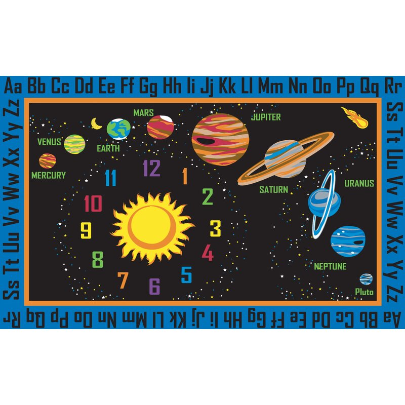Kid Carpet Outer Space Black Area Rug Amp Reviews Wayfair