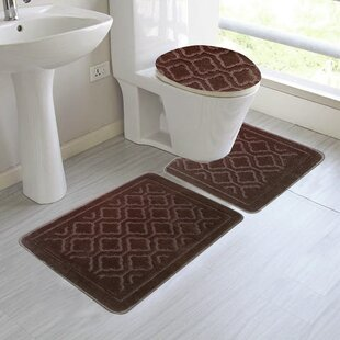 chagnon 3 piece bathroom rug set - Bathroom Rug Sets