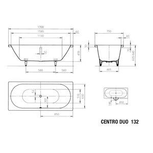Kaldewei Standard-Badewanne Centro Duo