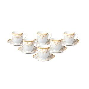 Espresso Cup and Saucer Set (Set of 6)