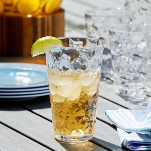 Honeycomb Plastic Highball Glasses (Set of 6)