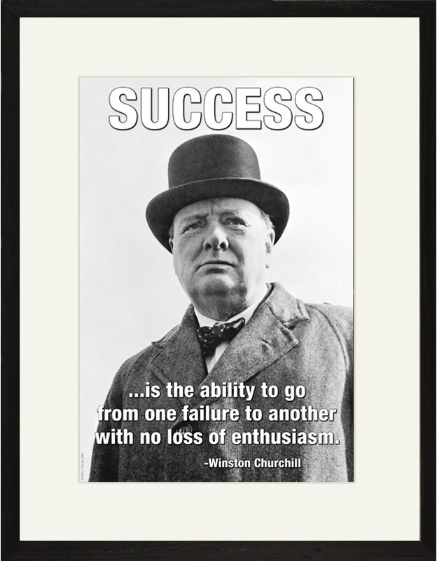 e50e595a3d4ae Buyenlarge Success is the Ability by Winston Churchill Framed Graphic Art