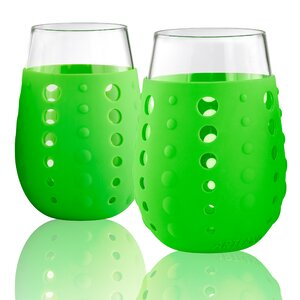 Hydra Sip Stemless 15 oz.Glass (Set of 2)