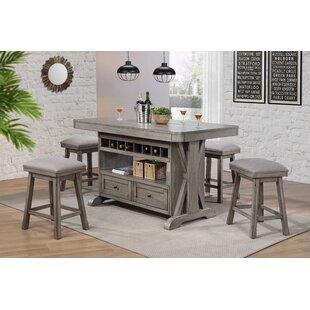 kitchen island for stools vergara piece kitchen island set with stools wayfair
