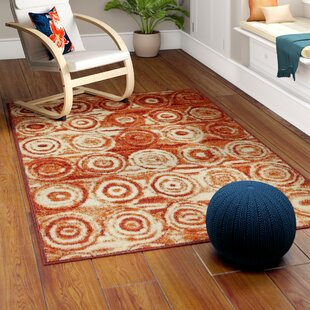 Guide to buy Bryan Terracotta Geometric Area Rug By Ebern Designs