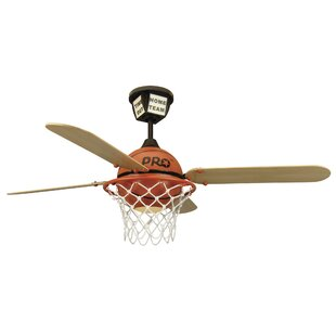 Ceiling fan with night light wayfair 52 destiney prostar basketball 4 blade ceiling fan with remote mozeypictures Image collections