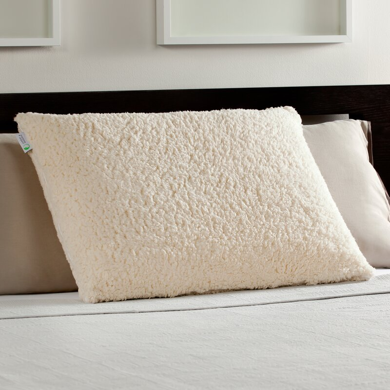 sherpa and luxury bed memory foam standard pillow