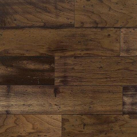 "5"" Engineered Walnut Hardwood Flooring in Chickory"