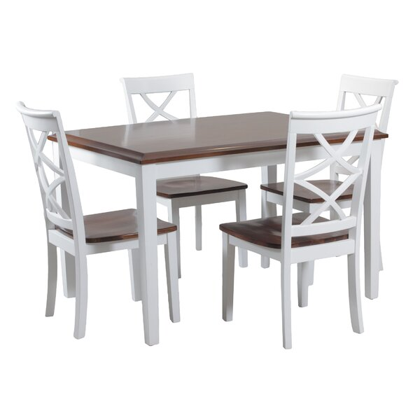 Lovely Wood Card Table and Chairs Set