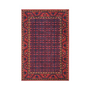 Robbins Southwestern Bright Red Area Rug