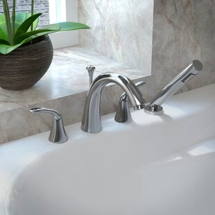 bathtub faucet. Fawn Double Handle Deck Mount Roman Bathtub Faucet With Shower Wand Tub With Sprayer  Wayfair