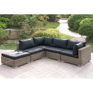 Marvelous Harvey 5 Piece Patio Sectional Set II With Cushions